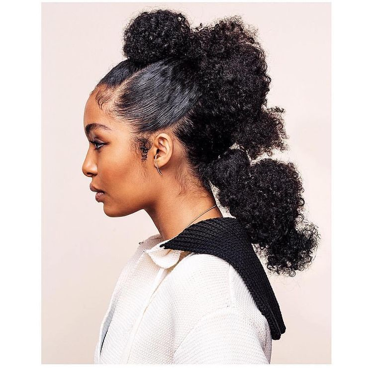 Yara Shahidi curly fauxhawk