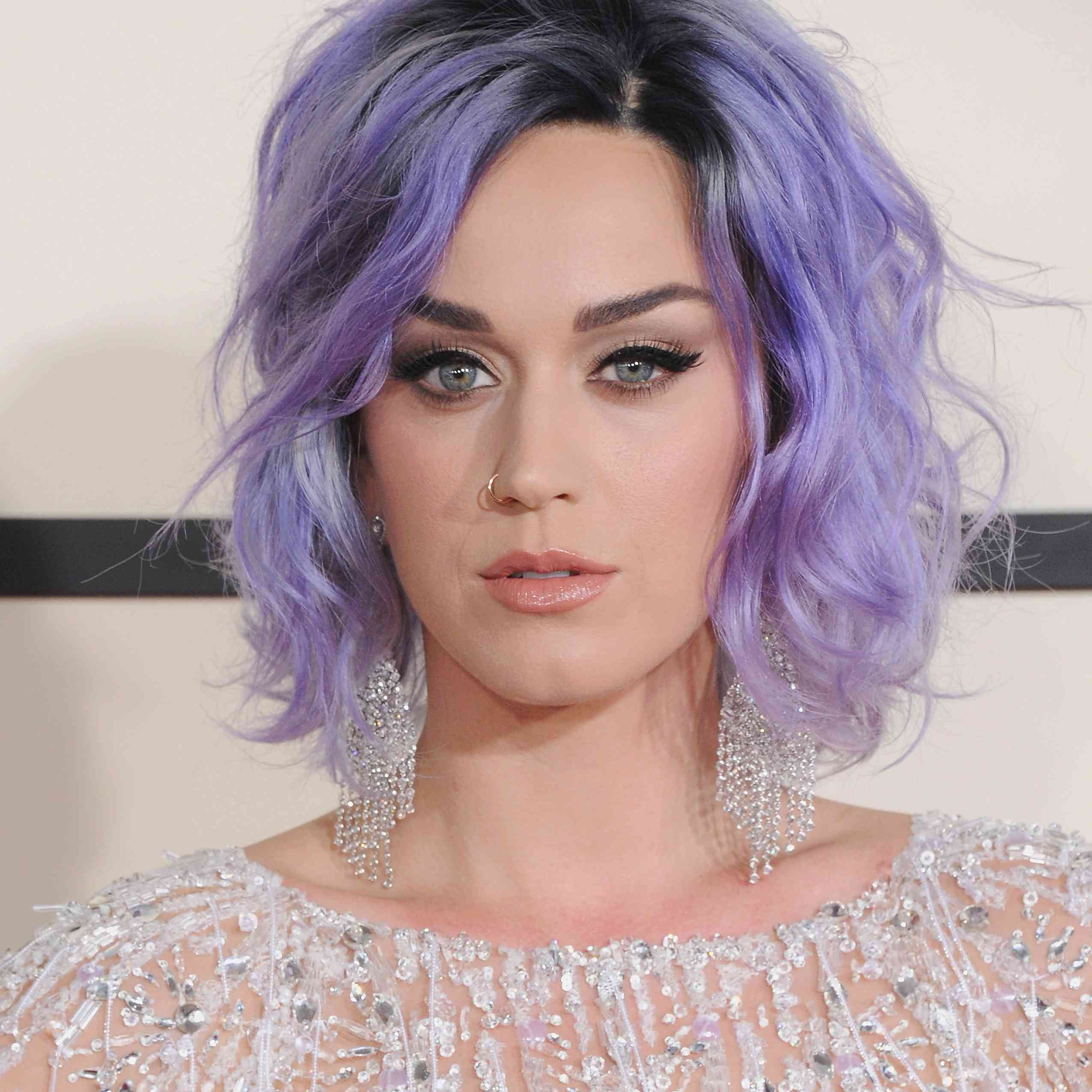 Purple hair: Katy Perry