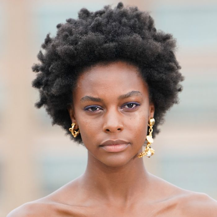 Model with afro hair