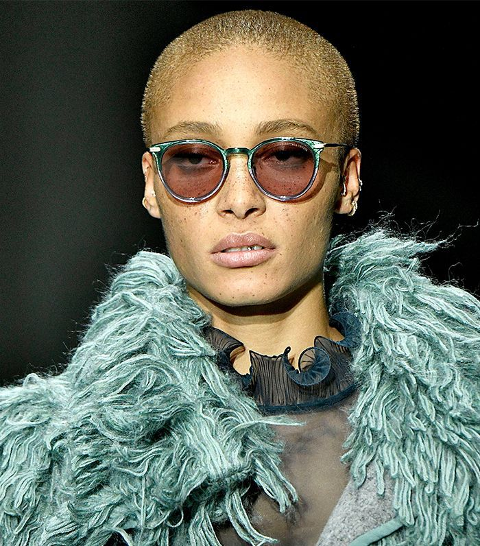 Adwoa Aboah blonde buzzcut