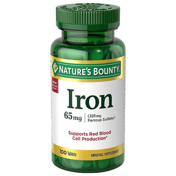 Nature's Bounty Iron Supplements