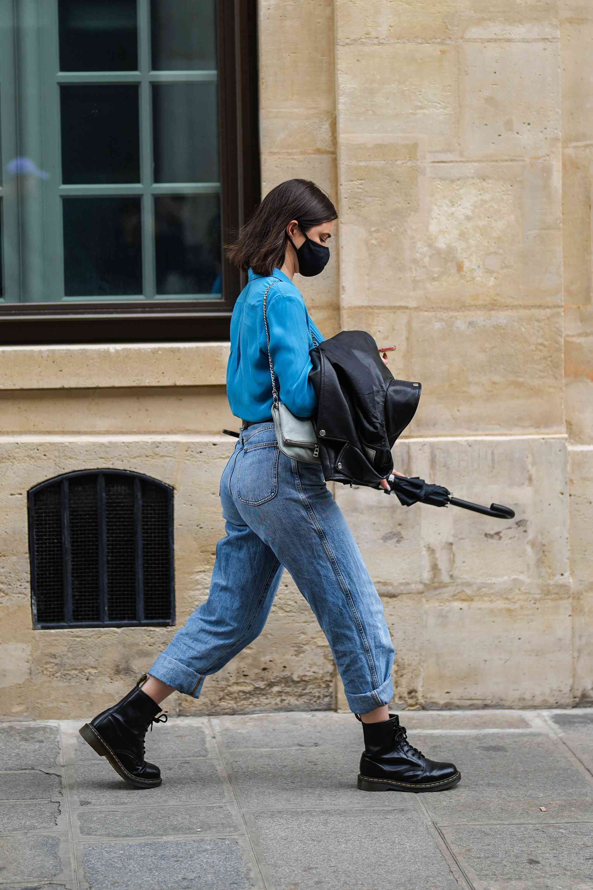 Dr. Martens Outfits Denim on Denim Street Style