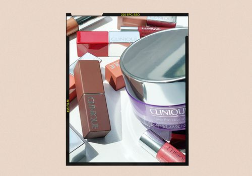 clinique products on white background