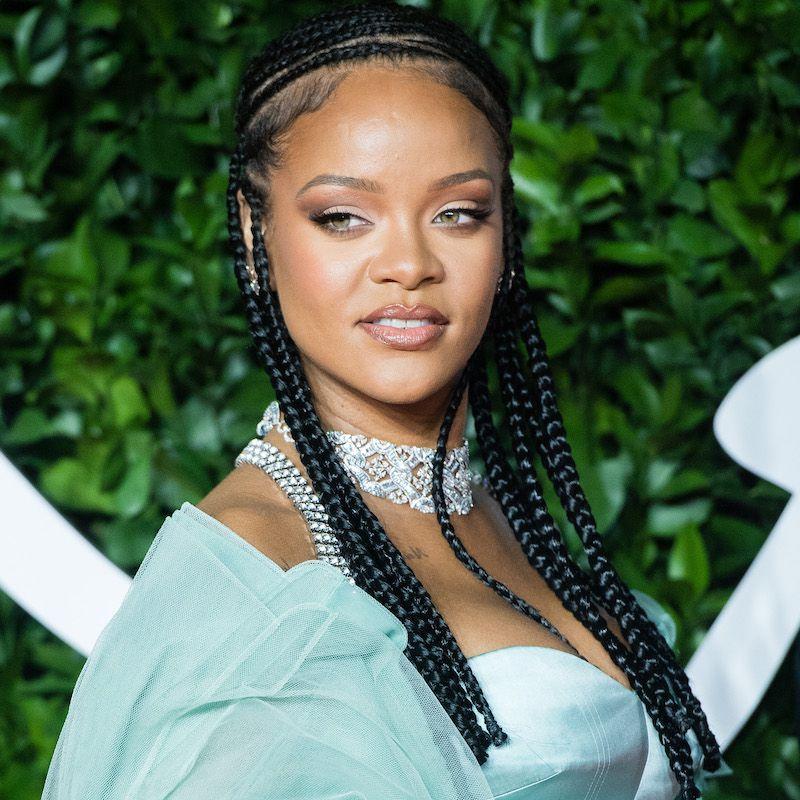 Fulani Braids Face Framing Rihanna