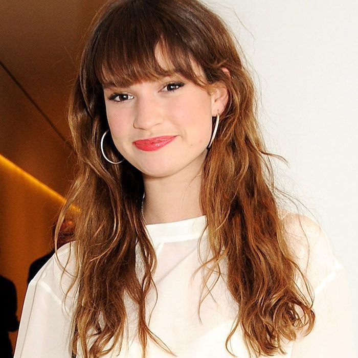 Lily James with Bangs