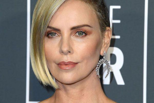 Charlize Theron asymmetrical cut