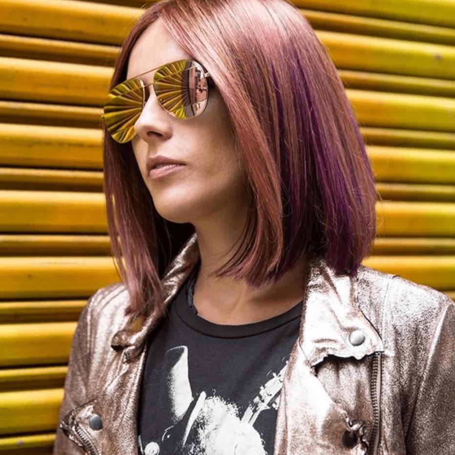 Chloe Norgaard Rose Gold Hair