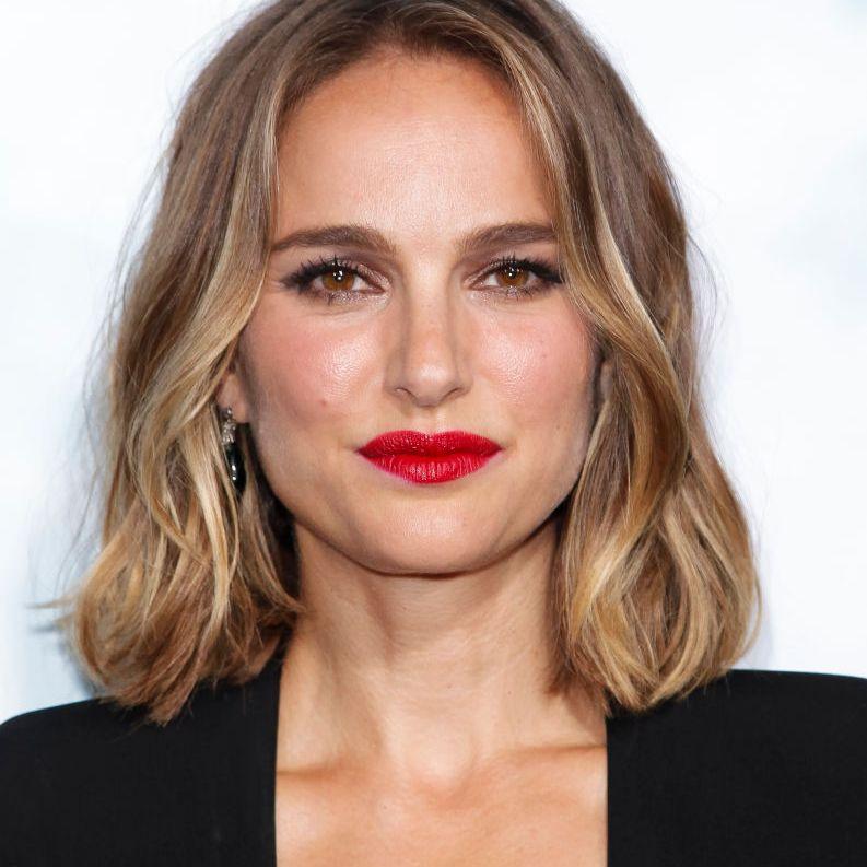 Natalie Portman lob with highlights
