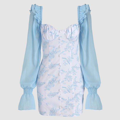 Baby Blue Angel Print Dress ($28)