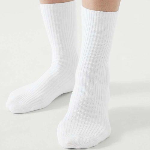 Cotton Ribbed Tall Socks ($9)
