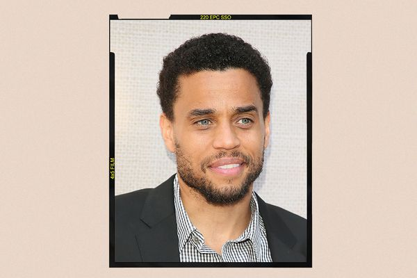 A headshot of actor Michael Ealy, with a beard.