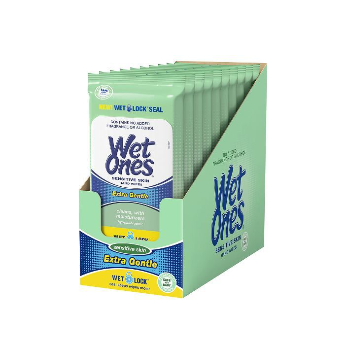 Sensitive Skin Hand Wipes, 20 Count