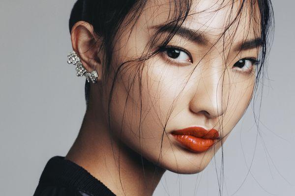 Asian woman with beautiful makeup