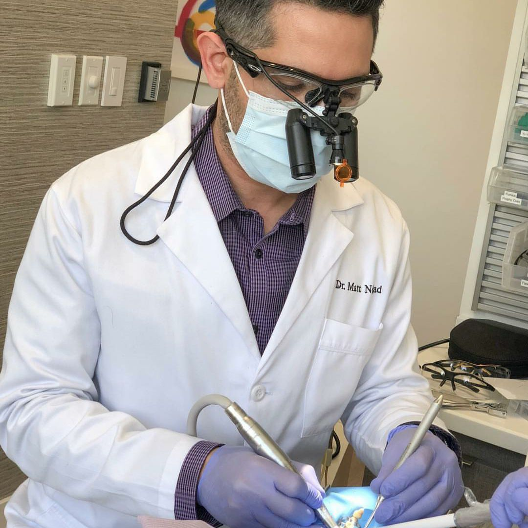 dentist performing work