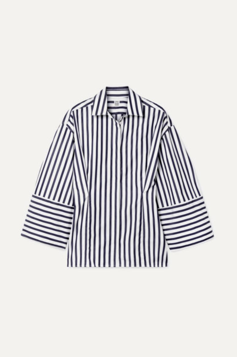 Bibione striped cotton-poplin shirt