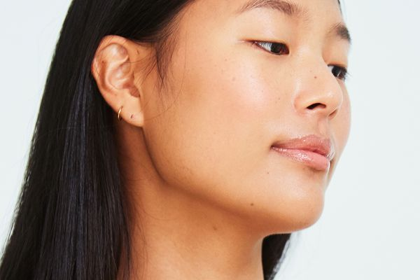person with fresh bright skin facial