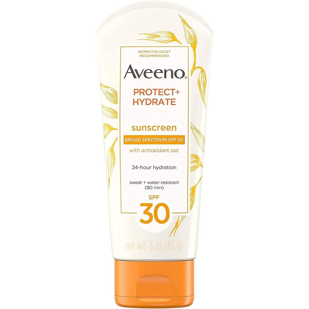 Aveeno Protect + Hydrate Face-Moisturizing Sunscreen Lotion with Broad Spectrum SPF 30