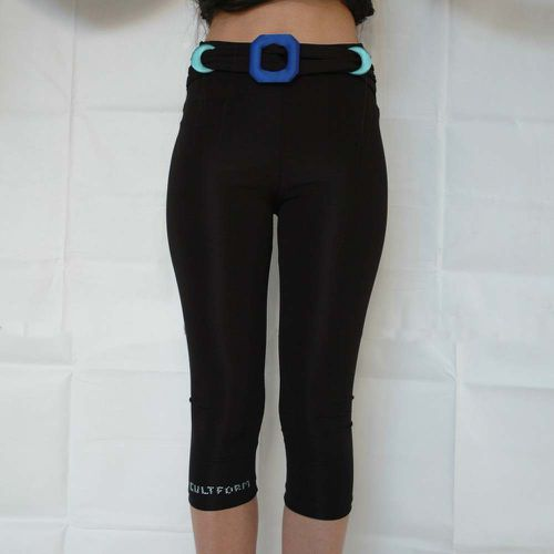 Black Midi Tights with Colorful Buckle ($142.35)