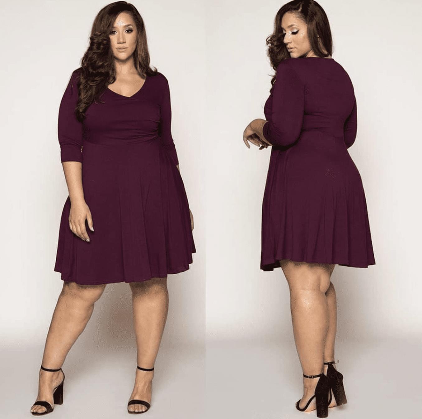 Size-Inclusive Brands Curve Girl Burgundy Dress