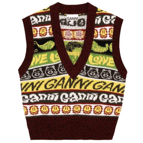Ganni Smiley Wool Vest