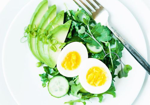 Plate of green veg and eggs