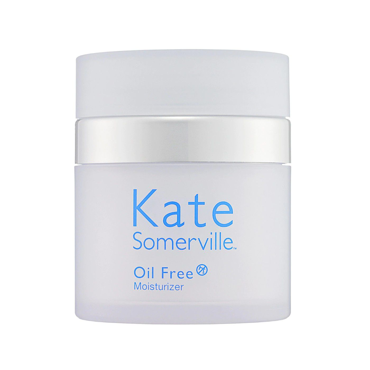 Jar of Kate Somerville Oil Free Moisturizer on a white background.