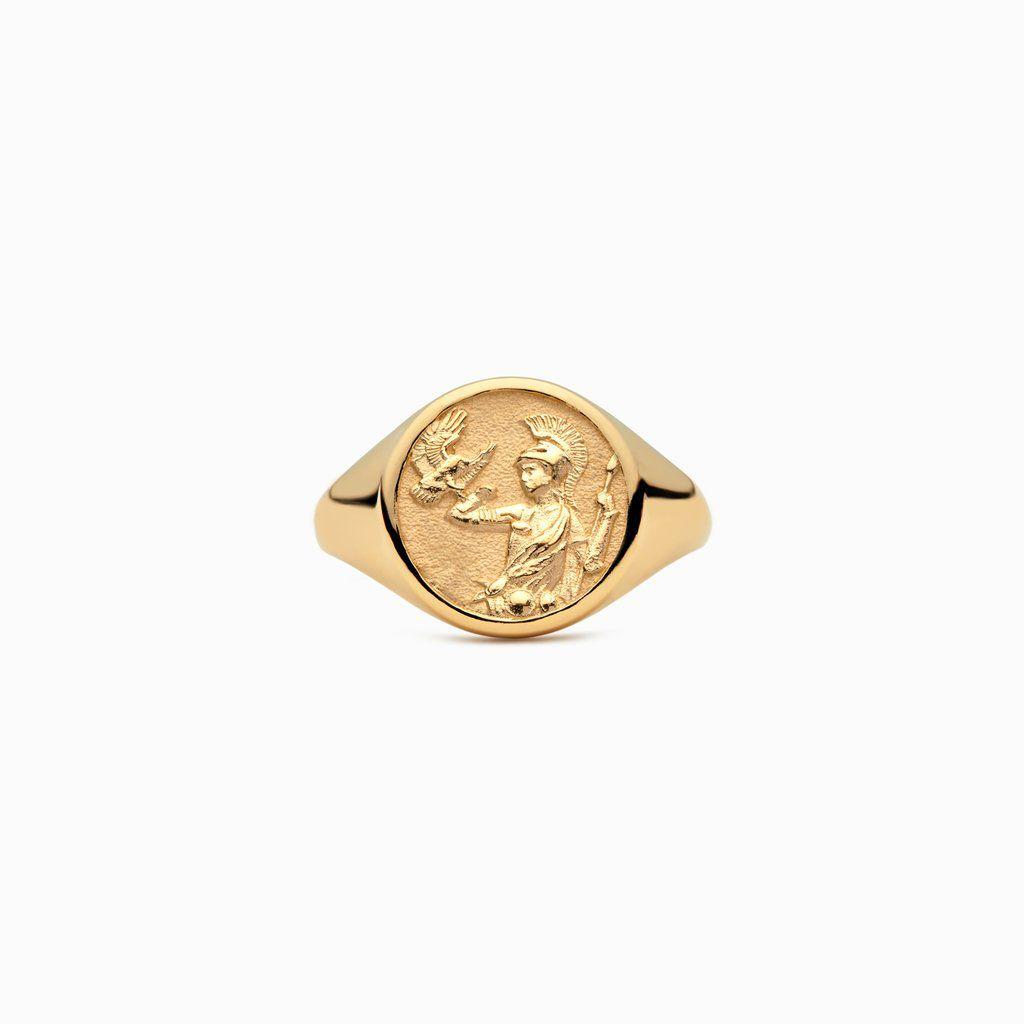 Awe Inspired Athena Signet Ring