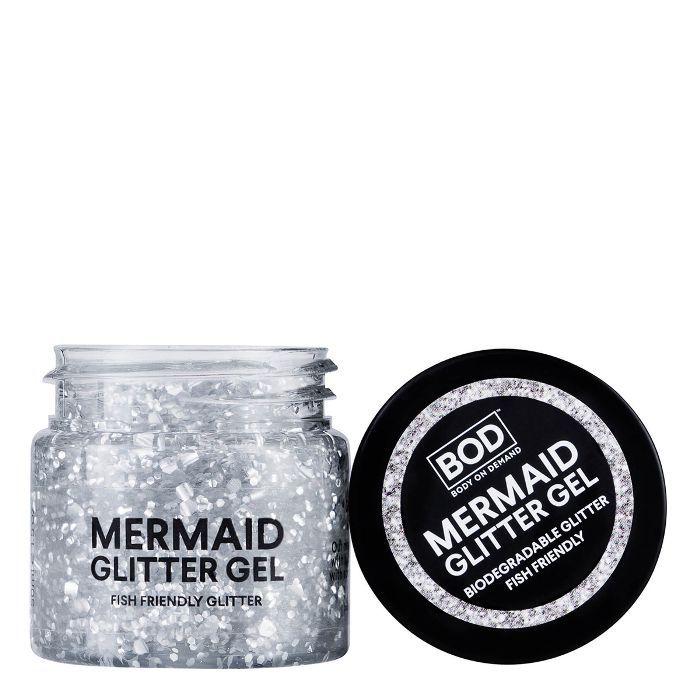 BOD Mermaid Body Biodegradable Glitter Gel in Silver