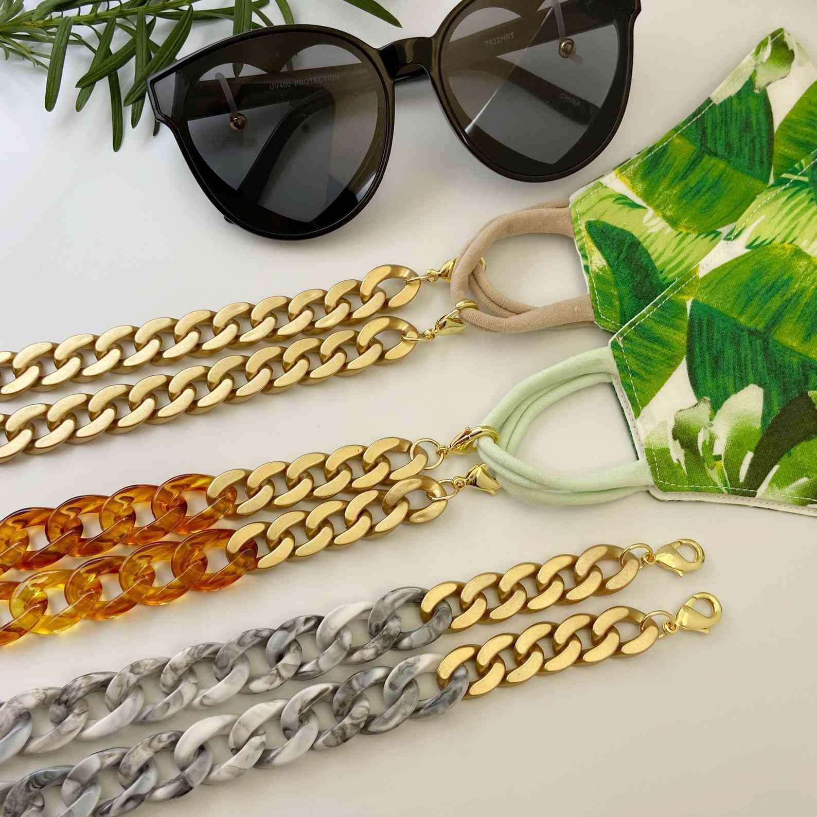 Piera Bijoux Design Acrylic Link Mask Chain