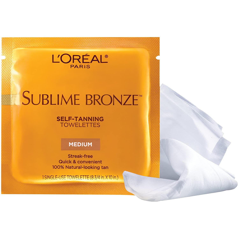 L'Oreal Paris Sublime Bronze Sunless Self-Tanning Towelettes