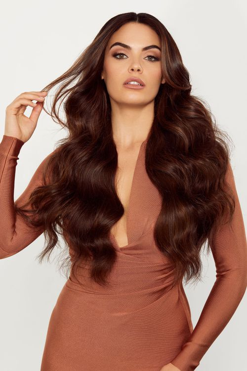 Glam Seamless Chocolate Brown Extensions