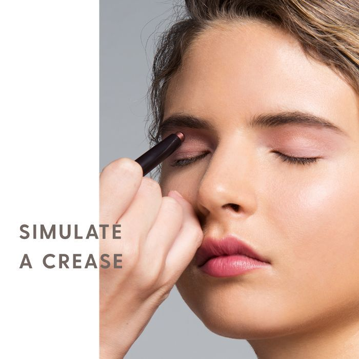 """... yet tricky part: creating the illusion of crease. This is where Streicher says a lot of women go wrong. """"Most people, when they put eye makeup on, ..."""