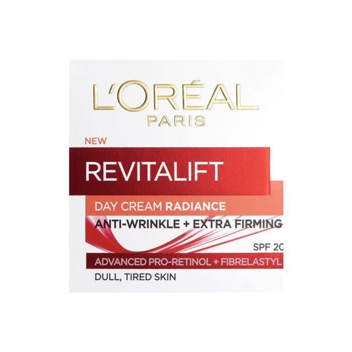 best retinol cream: L'Oreal Paris Revitalift Radiance Day Cream SPF 20