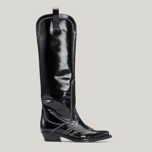 Leather Knee-HIgh Western Boots ($625)