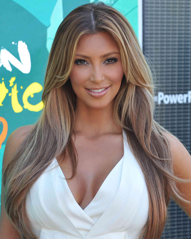 Kim Kardashian Ash Brown Hair