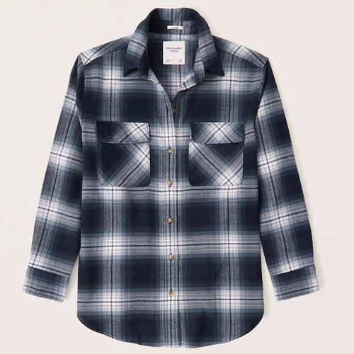 Abercrombie & Fitch Oversized Flannel Shirt Jacket