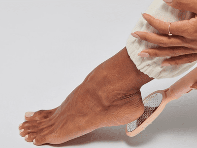 woman filing heels