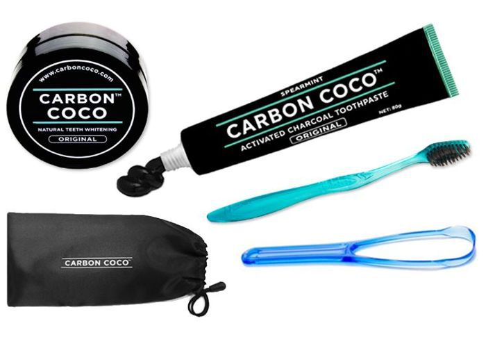 Carbon Coco Toothpaste Kit