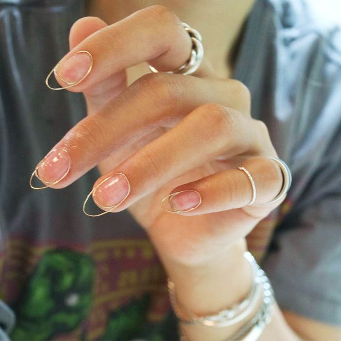 woman's hand with manicure