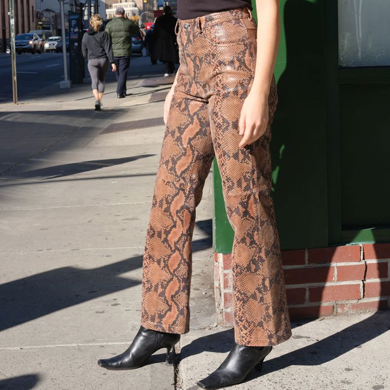 Veda x Reformation Leather Pants
