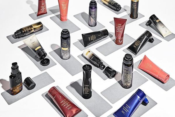 A selection of Oribe hair care products.