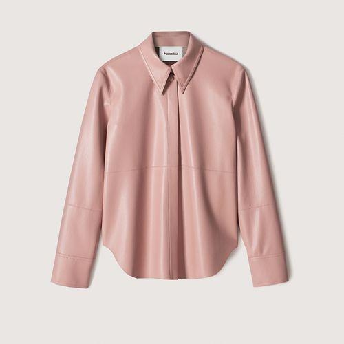 Naum Vegan Leather Shirt ($395)