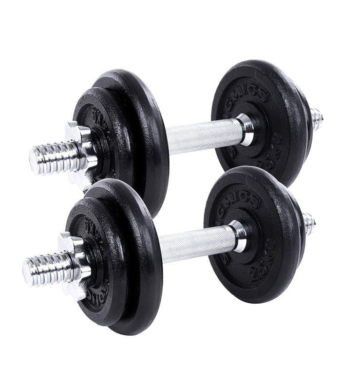 weight training for women: Gallant Cast Iron 20kg Dumbbells Set