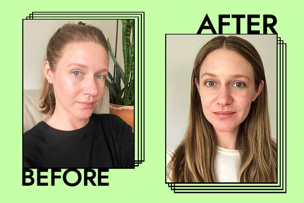 Josie Maran Pure Argan Milk Results on Nicole Kliest