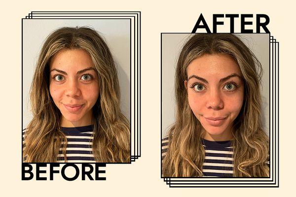 Kjaer Weis Lengthening Mascara Results on Gabrielle Dyer