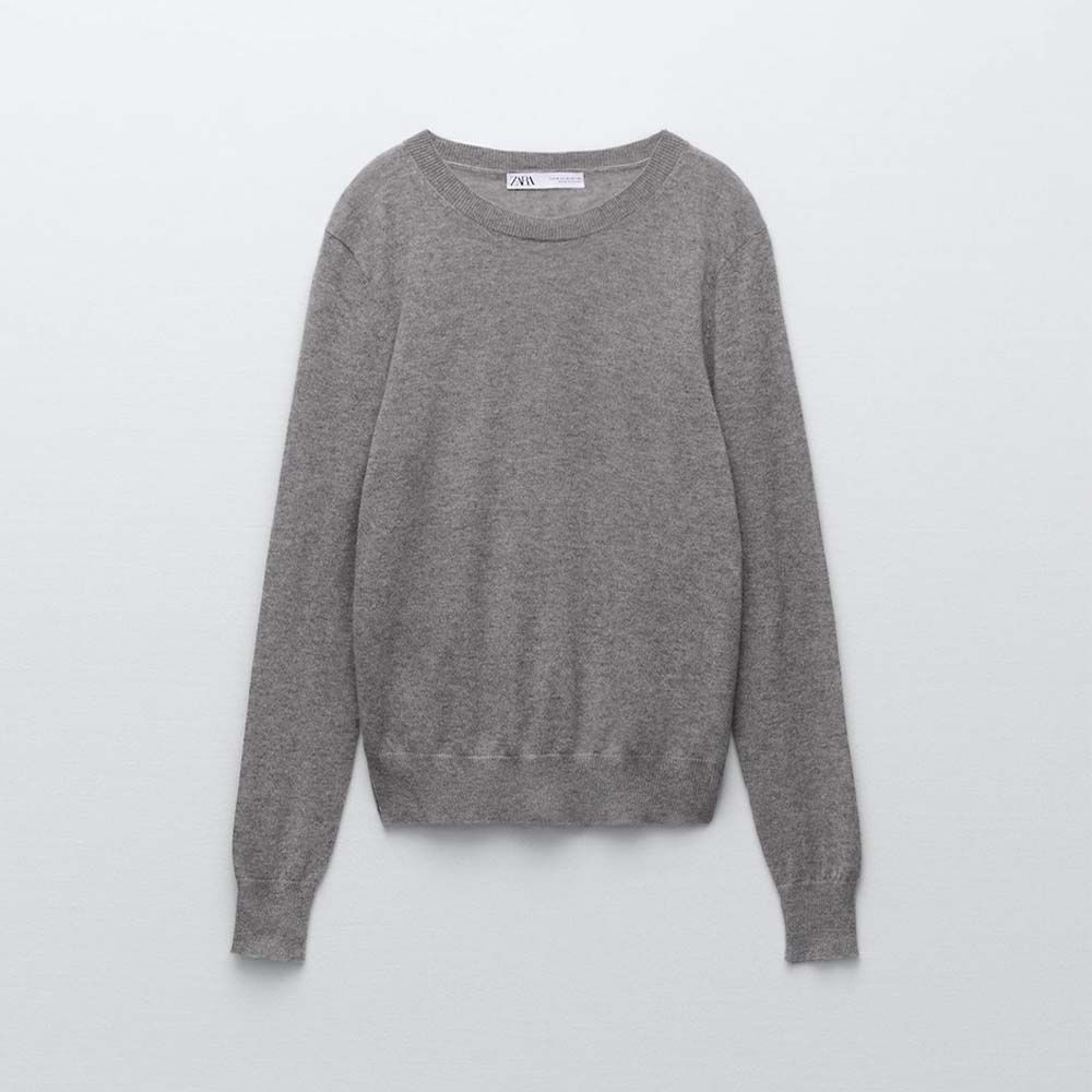 Knit Cashmere Sweater With Silk