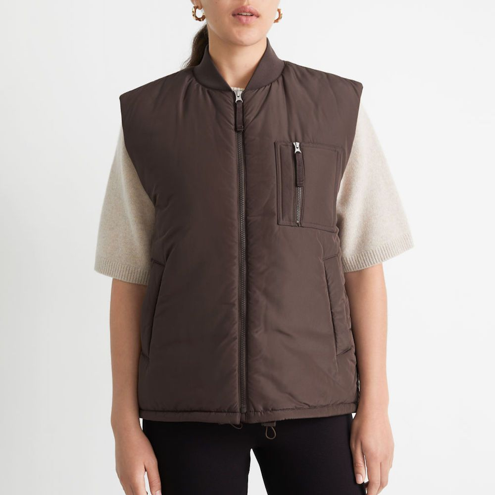 & Other Stories Padded Zip Vest