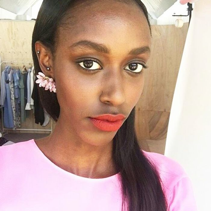 model skincare secrets: Vera Munyangaju skincare selfie