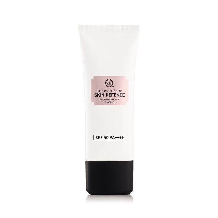 body shop review: Skin Defence Multi-Protection Essence SPF 50