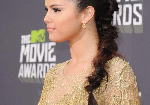 Selena Gomez with dutch braid